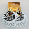 Iron Earrings, Flat Round 48mm, Sold by Group