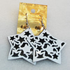 Iron Earrings, Star 52mm, Sold by Group