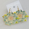 Iron Earrings, Flower 54x44mm, Sold by Group