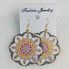 Iron Earrings, Flower 43mm, Sold by Group