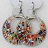 Fashional Earrings, 45mm, Length:2.48-inch, Sold by Dozen