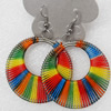Fashional Earrings, Thread, 45mm, Length:2.4-inch, Sold by Dozen