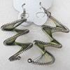 Fashional Earrings, Thread, Length:2.9-inch, Sold by Dozen