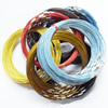 Memory Wire, Steel Wire Mixed Color, with Brass Clasp, 1mm, Length:18 Inch, Sold by Group