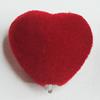 Villiform Acrylic Beads, Heart 22x19mm Hole:3mm, Sold by Bag