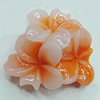 Resin Cabochons, NO Hole Headwear & Costume Accessory, Flower 20x20mm, Sold by Bag