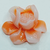 Resin Cabochons, NO Hole Headwear & Costume Accessory, Flower 24x20mm, Sold by Bag