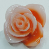 Resin Cabochons, NO Hole Headwear & Costume Accessory, Flower 20mm, Sold by Bag