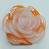 Resin Cabochons, NO Hole Headwear & Costume Accessory, Flower 21x20mm, Sold by Bag