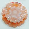 Resin Cabochons, NO Hole Headwear & Costume Accessory, Flower 21mm, Sold by Bag