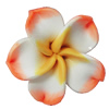 Handmade Polymer Clay Beads, Flower 30mm Hole:2mm, Sold by Bag