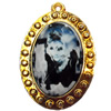 Jewelry Findings, CCB Plastic Pendant with Resin, 42x54mm, Sold by PC