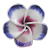 Handmade Polymer Clay Beads, Flower 40mm Hole:2mm, Sold by Bag