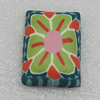 Polymer Cabochons, Rectangle 36x26mm, Sold by Bag