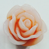 Resin Cabochons, NO Hole Headwear & Costume Accessory, Flower 18mm, Sold by Bag