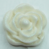Resin Cabochons, NO Hole Headwear & Costume Accessory, Flower 19mm, Sold by Bag