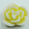 Resin Cabochons, NO Hole Headwear & Costume Accessory, Flower 17x17mm, Sold by Bag