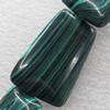 Malachite Beads,Trapezium, 13x20mm, Hole:Approx 1mm, Sold per 16-inch Strand