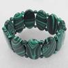 Malachite Bracelet,30mm, Length Approx:7.1-inch, Sold by Strand