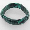 Malachite Bracelet,15mm, Length Approx:7.1-inch, Sold by Strand