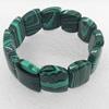 Malachite Bracelet,21mm, Length Approx:7.1-inch, Sold by Strand