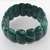 Malachite Bracelet,23mm, Length Approx:7.1-inch, Sold by Strand