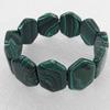 Malachite Bracelet,25mm, Length Approx:7.1-inch, Sold by Strand