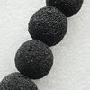 Natural Lava Beads, Round 18mm Hole:1mm, Sold per 16-inch Strand