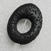 Natural Lava Beads, Flat Oval 34x26mm Hole:2mm, Sold per 16-inch Strand