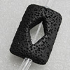 Natural Lava Beads, Rectangle 31x23x9mm Hole:2mm, Sold per 16-inch Strand