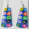 Silicon Rubber Fashionable Earring, 25x65mm, Sold by Dozen