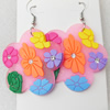 Silicon Rubber Fashionable Earring, 45x65mm, Sold by Dozen