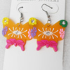 Silicon Rubber Fashionable Earring, 40x50mm, Sold by Dozen