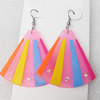 Silicon Rubber Fashionable Earring, 46x65mm, Sold by Dozen
