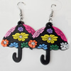 Silicon Rubber Fashionable Earring, Sold by Dozen