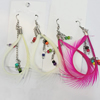 Fashional Earrings, Feather, Mix colour, Sold by Dozen