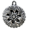 Antique Silver Plastic Pendant, 30x36mm, Hole:Approx 3mm, Sold by Bag