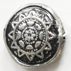 Antique Silver Plastic Beads, 18mm, Hole:Approx 1.5mm, Sold by Bag