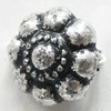 Antique Silver Plastic Beads, 12mm, Hole:Approx 1.5mm, Sold by Bag
