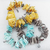 Shell Bracelet, Mix Colour, Length Approx:7.1-inch, Sold by Strand