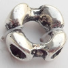 Connectors Zinc Alloy Jewelry Findings Lead-free, 12mm, Hole:6mm, Sold by Bag
