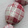 Printing Ceramics Beads, Nugget 40x31mm Hole:3mm, Sold by Bag