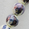 Ceramics Beads Plated AB, Round 24mm Hole:2mm, Sold by Bag
