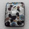 lampwork Cabochons, Rectangle 20x40x7mm, Sold by PC
