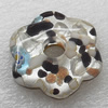 Silver Foil lampwork Pendant, Flower 40x40x9mm, Sold by PC