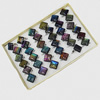 Dichroic Lampwork Glass Rings, Diamond 26.5mm, Sold by Box
