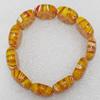 Millefiori Glass Bracelets, Beads Size:18x22mm, Sold by PC