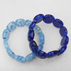 Millefiori Glass Bracelets, Mix Color, Beads Size:18x22mm, Sold by PC