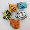 Dichroic Glass Pendant, Mix Style & Mix Color, 41mm-33x35mm, Sold by Group