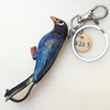 Iron Key Chains with Cowhide Pendants, Width:25mm, Length:4.9-inch, Sold by PC